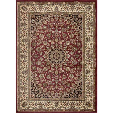 Tayse Rugs Elegance Red 9 Ft 3 In X 12 Ft 6 In Indoor 6 X 12 Area Rug
