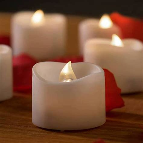 battery tea lights bulk 12 battery operated candles white bright flickering