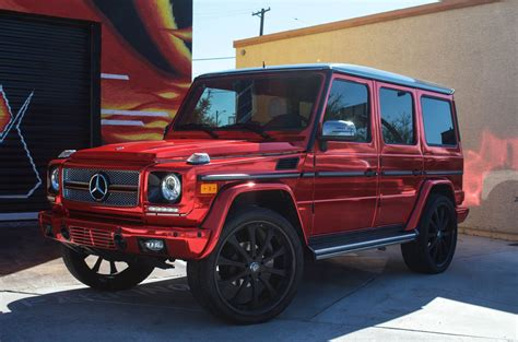 mercedes g wagon red interior mercedes benz g wagon factory white red chrome