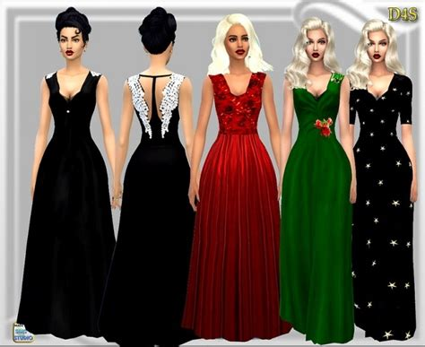 Dress Big Salur Cc wing gown at dreaming 4 sims 187 sims 4 updates