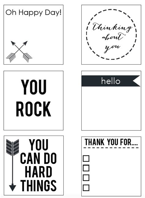 printable sticky notes template printable post it notes reasons to skip the housework
