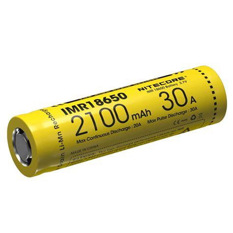 Baterai Senter nitecore imr18650 baterai vape 2100mah 30a 3 7v yellow jakartanotebook