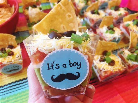 Dips For Baby Shower by 7 Layer Dip Cups For A Baby Shower