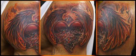 phoenix tattoo heart phoenix heart by richard hart tattoonow