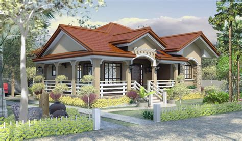 bungalow house designs one story house plan home design