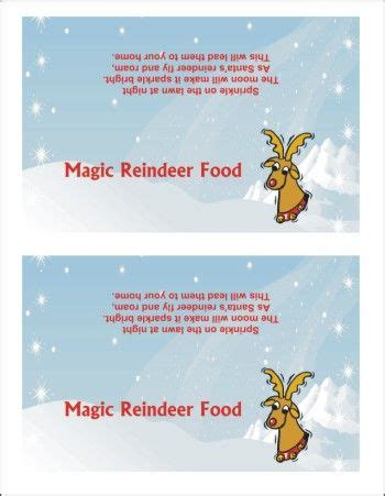 printable magic reindeer poem printable magic reindeer food poem holidays