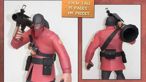 Team Fortress 2 Papercraft - team fortress 2 soldier papercraft gadgetsin