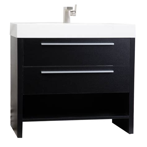 Black Modern Bathroom Vanity Mula 35 5 Inch Modern Bathroom Vanity Matt Black Rs L900 Bk On Conceptbaths