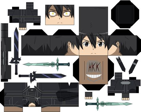 Kirito Papercraft - kirito black swordsman by hollowkingking on deviantart
