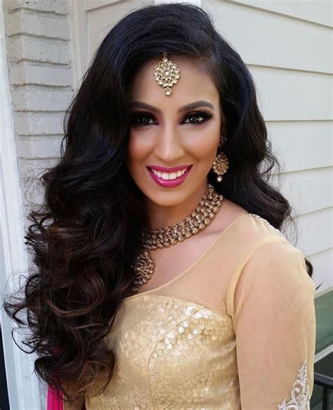 Hairstyles For Curly Hair For Indian Wedding by Indian Wedding Hairstyles For Curly Hair Medium