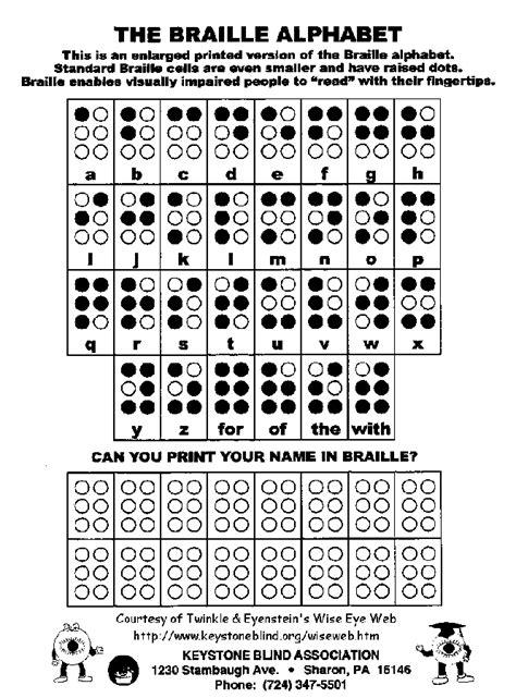 Braille Worksheets Printables by Twinkle Eyenstein Braille Tvi O M