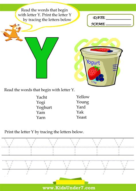 Letter Words Words That Start With The Letter Y Free Bike
