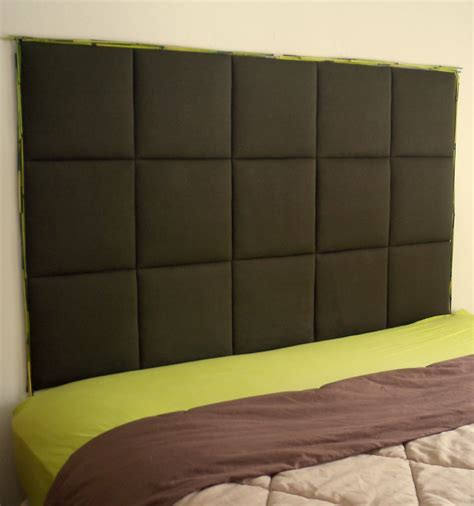 foam board headboard diy foamboard batting fabric for cozy small bedroom