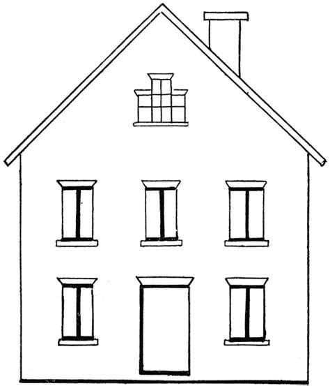 drawing of a house drawing a house 1 clipart etc