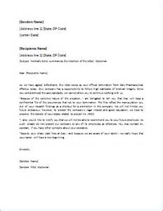 Letter Of Template by Dismissal Letter Template For Word Doc Word Excel