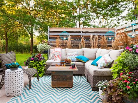 outdoor spaces on a budget 25 chic ideas for patios and porches on a budget hgtv