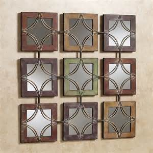 mirror wall decor domini mirrored metal wall