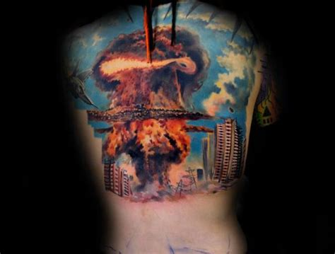 mushroom cloud tattoo 30 cloud designs for atomic ink ideas
