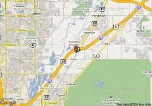 where is brighton colorado on map map of inn express denver brighton henderson