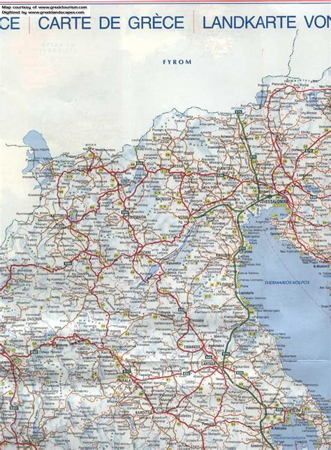 printable road map of greece map of greece