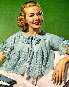 free knitting pattern bed jacket bed jacket vintage crochet bed jacket in size 14 16 is