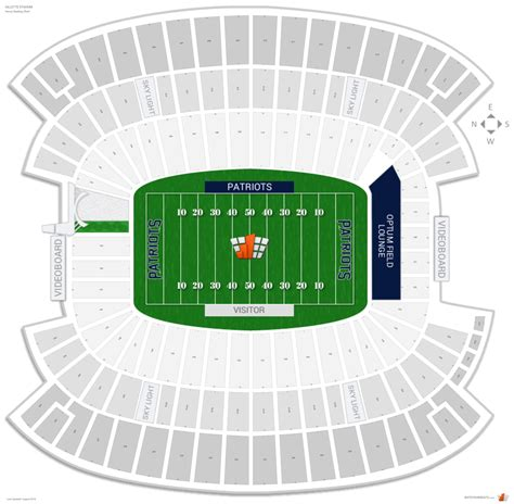 stadium interactive seating chart new patriots seating guide gillette stadium