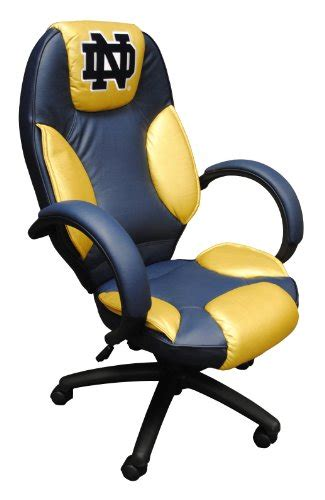 notre dame lawn chairs ncaa notre dame fighting leather office chair