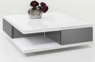 Table Basse Grise Pas Cher #1: table-basse-design-blanche-grise-laque-2-tiroirs-domingo.jpg