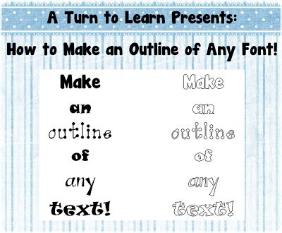 outline any text 1 • a turn to learn