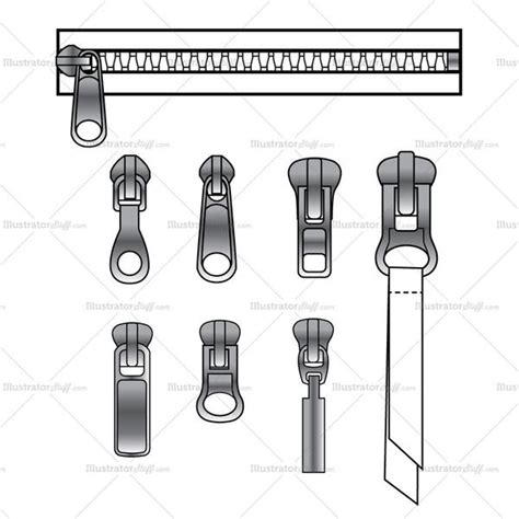 zipper pattern illustrator zipper pull variety and zipper brush pattern illustrator