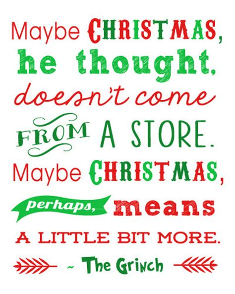 free printable holiday quotes how the grinch stole christmas quotes quotesgram
