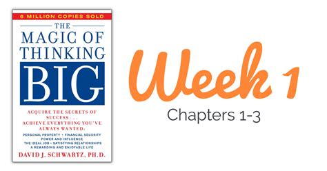 Thinking Big the magic of thinking big week 1