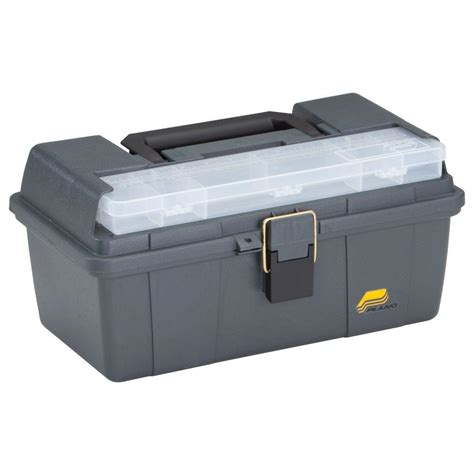 home depot tool box plano grab n go 16 in tool box with tray 452006 the