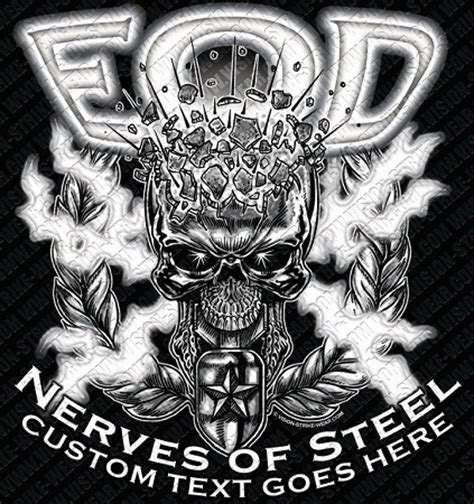 eod tattoo eod nerves of steel shirt 17 76 army shirts