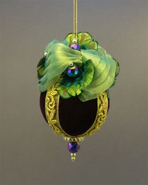 Handmade Ornaments For - handmade vintage style velvet ornament