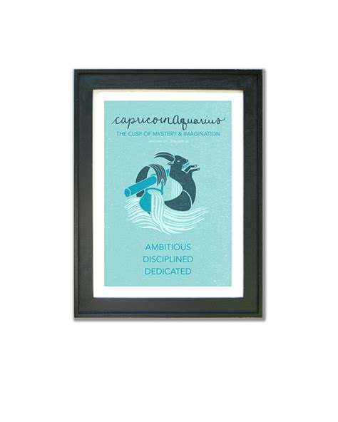 capricorn aquarius cusp print astrological cuspian art