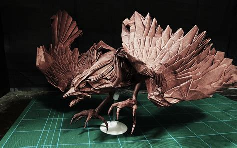 Complex Origami - 25 beautiful origami birds 21 is especially impressive