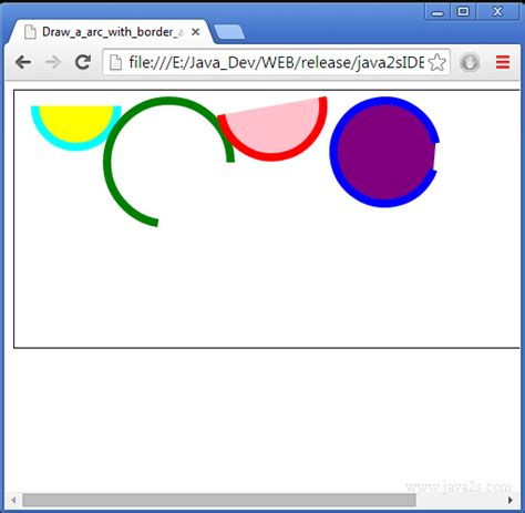 Fill Pattern Canvas Javascript | draw a arc with border and fill on html5 canvas in javascript