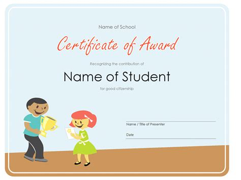 award certificate templates for appreciation with yellow color