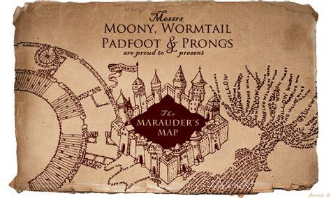 marauders map printable template card marauders map potterhead