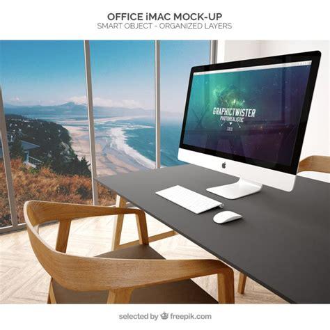bureau imac bureau imac maquette t 233 l 233 charger psd gratuitement