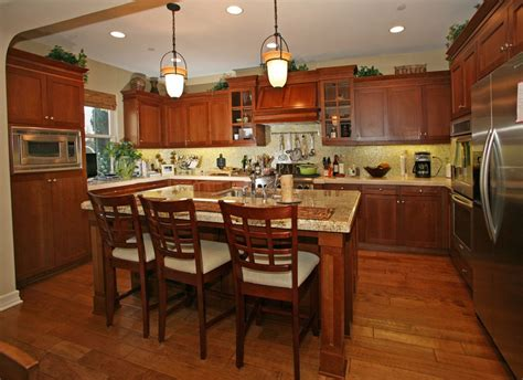 Kitchen Central Island 23 Cherry Wood Kitchens Cabinet Designs Ideas