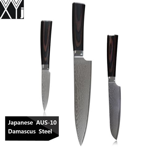 review 8 inch damascus santoku knife premium 67 layer xyj kitchen knives 8 inch cook s knife 5 inch santoku 3