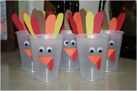 Paper Cup Turkey Craft - 36 thanksgiving craft ideas for