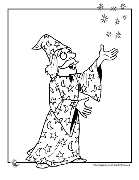 Wizard Coloring Pages Magic Wizard Coloring Page Woo Jr Kids Activities by Wizard Coloring Pages