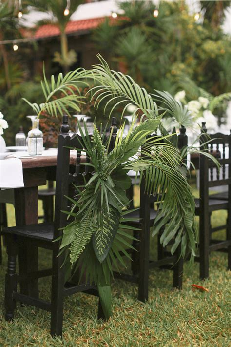 Decorating Ideas Using Palm Fronds Palm Fronds Decor Wedding Ideas 100 Layer Cake