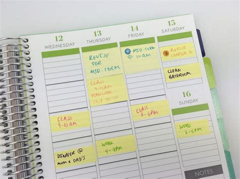 All Day Planner Post It planner organization 5 ways to use sticky notes for school or college