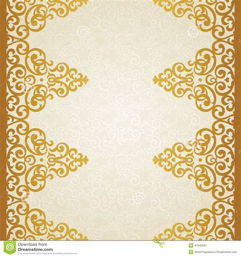 Wedding Border Patterns by Vector Ornate Border In Style Stock Vector