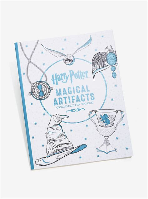 harry potter coloring book artifacts harry potter magical artifacts coloring book boxlunch