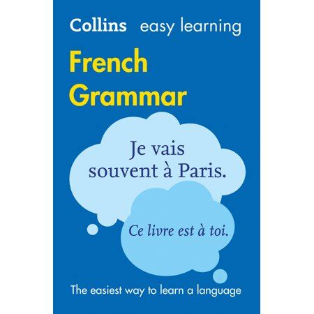 0007391390 easy learning french grammar and collins easy learning french easy learning french